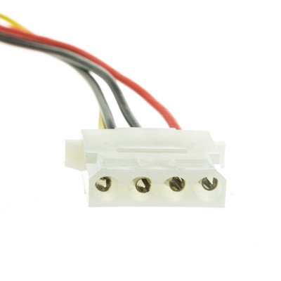 12 inch, 4 Pin Molex Cable, 5.25 inch Female to 5.25 inch Female ( 50 PACK ) BY NETCNA by NETCNA (Image #2)