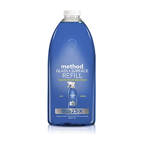 Method Glass Cleaner + Surface Cleaner Refill, Mint, 68 Ounce ()