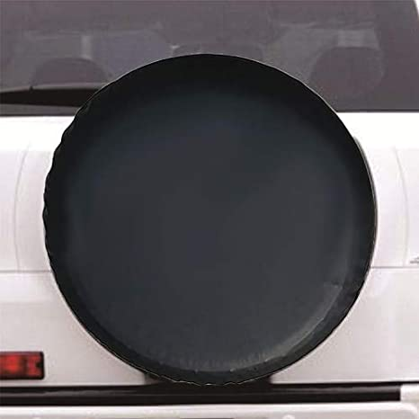 Spare Tire Cover Truck and Many Vehicle 14 inch for Tire /Φ 26-27, Black Universal Fit for Jeep Wheel Diameter 26-27 Weatherproof Tire Protectors RV Trailer SUV
