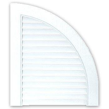 Builders Edge 14 In. x 17 In., Bright White, pair of Louvered Design Quarter -