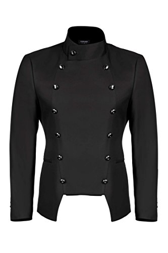 COOFANDY Men's Casual Double-Breasted Jacket Slim Fit Blazer 4