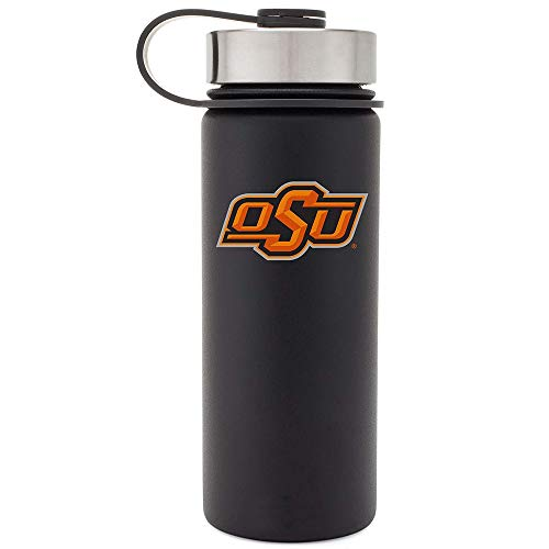 Simple Modern Oklahoma State University 18oz Summit Water Bottle - Vacuum Insulated Stainless Steel Travel Mug - OSU Cowboys Tailgating Hydro Cup College Flask - Black