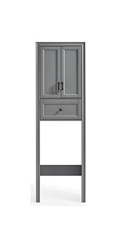 - Crosley Furniture Space Saver Cabinet in Vintage Gray Finish