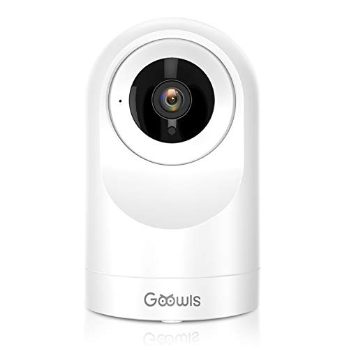 WiFi Camera Indoor, Goowls Home Security Pet Dog PTZ 2.4GHz 1080P Wireless IP Camera for Baby/Pet/Nanny Monitor Night Vision Motion Detection Two-Way Audio Works with Alexa