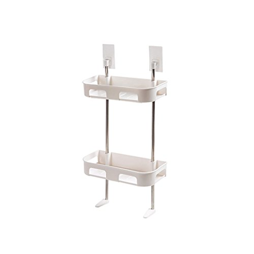 HY Punch-free Family Multi-layer Wash Bathroom Rack Bathroom Plastic Storage Rack (Color : White, Size : L30CMW13.5CMH50.5CM) by HY (Image #2)