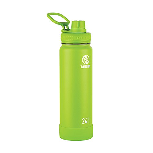 Takeya Actives Insulated Stainless Water Bottle with Insulated Spout Lid, 24oz, - Ounce Sport Bottle 24