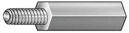 Hex Standoff, Alum, 10-32x1/2 L, PK10 by Materro
