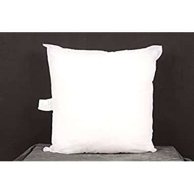 Pal Fabric Square Sham Pillow Insert for 18  x18  Pillow Cover - Made in USA -Full and Fluffy
