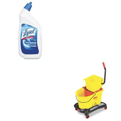 KITRAC74278CTRCP768000YW - Value Kit - Rubbermaid-Wave Break Dual Side Press,Yellow (RCP768000YW) and Professional LYSOL Brand Disinfectant Toilet Bowl Cleaner (RAC74278CT)