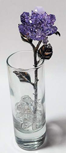 (Purple Crystal Rose Made with Swarovski Crystal in)