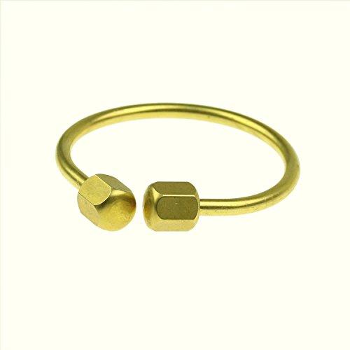 FidgetGear Creative Brass Horseshoe Screwball Key Chain Ring Solid Easy-open Holder CJ718