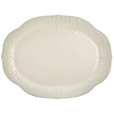 Lenox French Perle Oval Platter, White