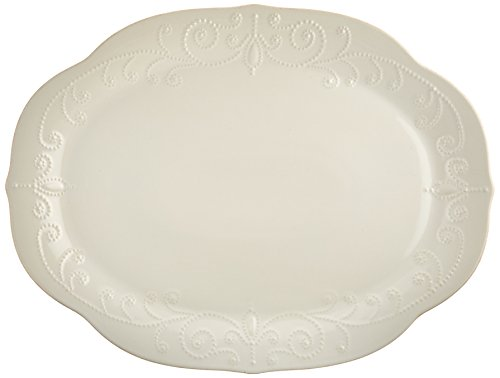 French Oval Platter (Lenox French Perle Oval Platter, White)
