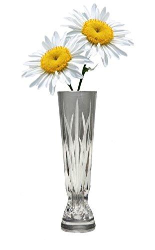 285 & Decorative 6 Inch Tall Crystal Glass Bud Vase Flower Vase Centerpiece