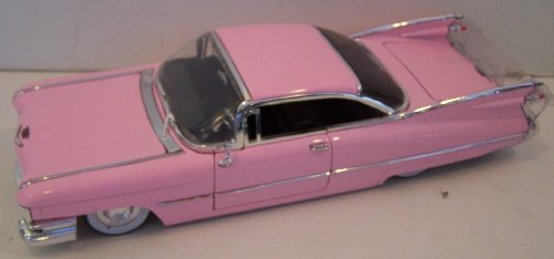 Jada Toys 1/24 Scale Diecast Dub City 1959 Cadillac Coupe De Ville in Color Pink