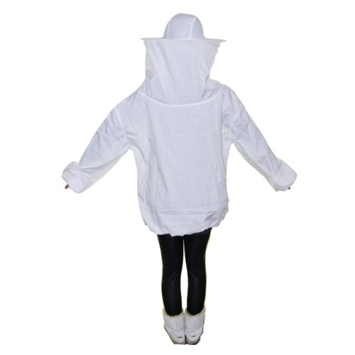 NAVA White Beekeeping Suit Jacket Equipment Coat With Protective Veil Smock