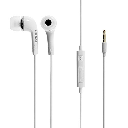Samsung EHS64AVFWE 3.5mm EHS64 Stereo Headset with Remote and Mic - Original OEM - Non-Retail Packaging - White