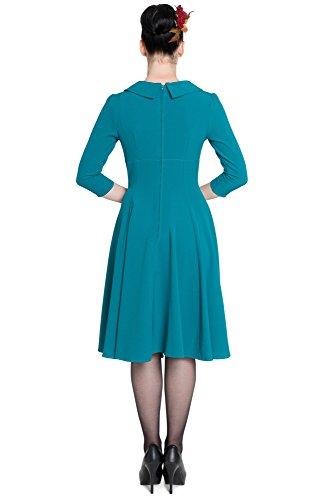 DRESS Hell BENITA Teal Bunny Kleid 4402 gx0wxrt