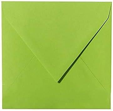180x180mm 25x Briefumschläge haftklebend Gras Grün 18,0x18,0cm