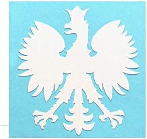 Poland 2 x 2 Polish Sticker White Polish Eagle