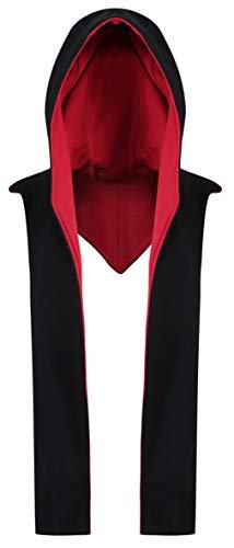 Hooded Cosplay Scarf (Black/red) -
