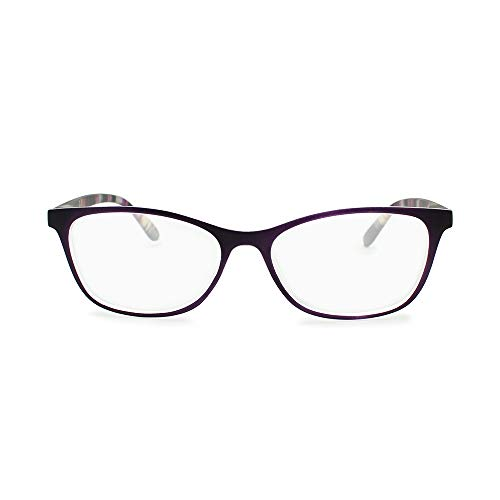 2SeeLife Women's Slim Horn Rimmed Cat-Eye Style Reading ()