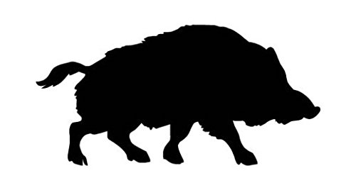 Wild Pig Boar Warthog Hog Decal Sticker, Die cut vinyl decal for windows, cars, trucks, tool boxes, laptops, MacBook - virtually any hard, smooth surface (Pig Warthog)