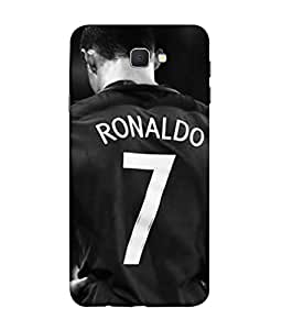 ColorKing Football Ronaldo Portugal 14 Black shell case cover for Samsung J5 Prime