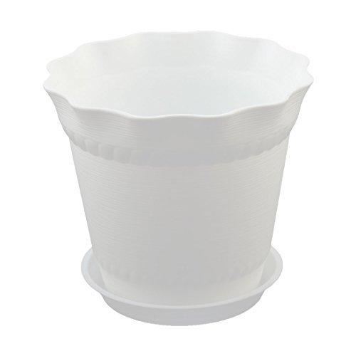 Amazon.com: eDealMax plástico del Ministerio del Interior Jardinería Hierba plántulas de vivero sostenedor de la Flor Blanca Tiesto: Home & Kitchen