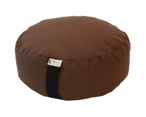 Zafu Round - BROWN - Buckwheat Fill 10oz Cotton Made in USA by Bean Products