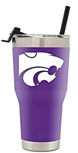 Simple Modern Kansas State University 30oz Cruiser Tumbler with Straw & Flip Lid - Vacuum Insulated Stainless Steel Travel Mug - Tailgating Cup College Flask