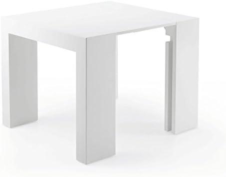 Mesa de madera moderna, extensible: 90 x 50 cm - 90 x 300 cm ...