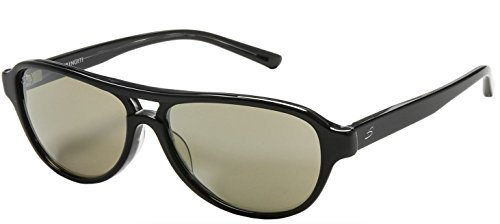 Serengeti Cosmo Imperia Photochromic Glass Lens Aviator Sunglasses (Blk Gray Tortoise)