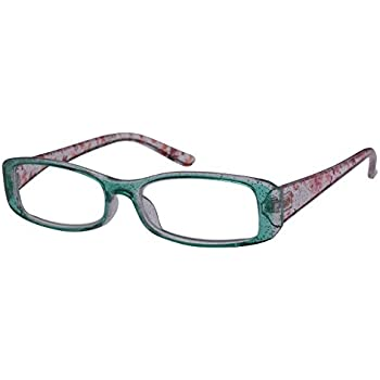 5790711ed2 Edge I-Wear Women s Rectangular Frame Reading Glasses with Floral Print  includes A Eyewesr Case