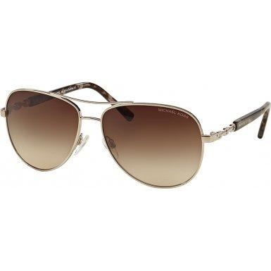 Michael Kors Women's Sabina III Silver/Smoke Gradient - Women Sunglasses Mk For
