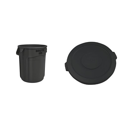 Rubbermaid Commercial BRUTE Trash Can, Vented, 32 Gallon,...