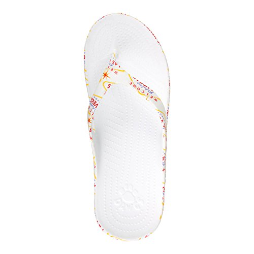 DAWGS Las Beach to Vegas Mens Support Arch Flops Flip Welcome 7pxB7ZPSa