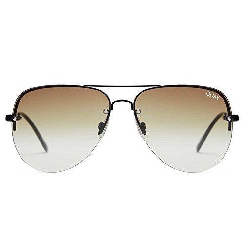 Quay Australia MUSE FADE Women's Sunglasses Jasmine Aviator - - Fade Sunglasses Black