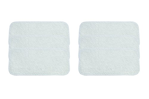 LTWHOME Microfiber Cleaning Pads Fit for Sienna Luna Steam Mop SSM-3006 (Pack of 6) (Package Ssm)