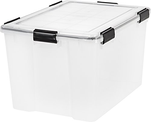 IRIS 74 Quart WEATHERTIGHT Storage Box, Clear