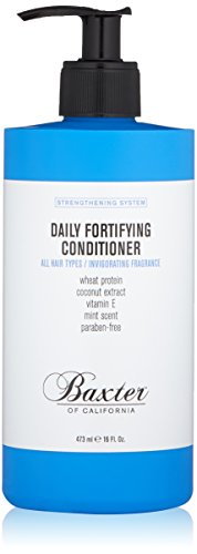 Baxter of California Daily Fortifying Conditioner for All Hair Types Wheat Protein and Coconut Extract, Moisturizes and Smooths, Fresh Mint Scent,16 oz. California Daily Moisturizing Conditioner