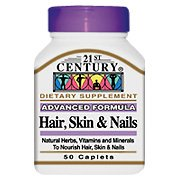 21st Century Hair, Skin and Nails Caplets, 60-Count