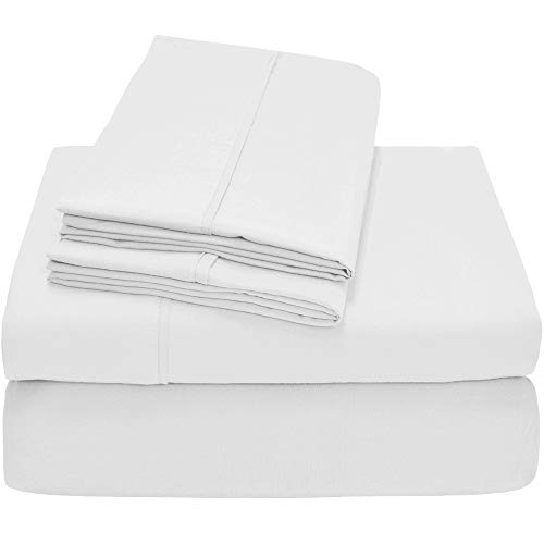 Bare Home Premium - Queen Size Sheets - 1800 Ultra-Soft Microfiber Collection Sheet Set - Double Brushed - Hypoallergenic - Wrinkle Resistant - Deep Pocket (Queen, White)