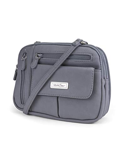 MultiSac Zippy Triple Compartment Crossbody Bag, Oyster