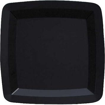 Form \u0026 Function Square 7-inch Black Plastic Plates 72 Per Box & Amazon.com: Form \u0026 Function Square 7-inch Black Plastic Plates 72 ...