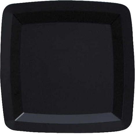 Form u0026 Function Square 7-inch Black Plastic Plates 72 Per Box & Amazon.com: Form u0026 Function Square 7-inch Black Plastic Plates 72 ...
