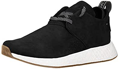 adidas Originals Men's NMD_C2 Running Shoe, Black/Gum, 4 M US