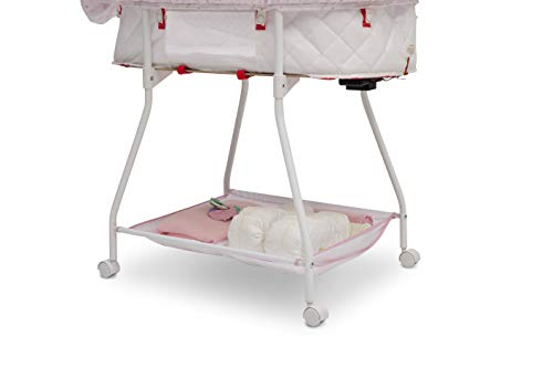31taA c%2BHVL - Disney Baby Ultimate Sweet Beginnings Bedside Bassinet - Portable Crib With Lights, Sounds And Vibrations, Disney Princess