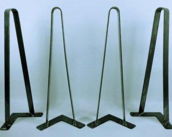 Flat Bar Hairpin Legs 1-1/2'' Set of 4, 30'' Metal Table Legs Steel Table Legs Console Table Metal Coffee Table Legs