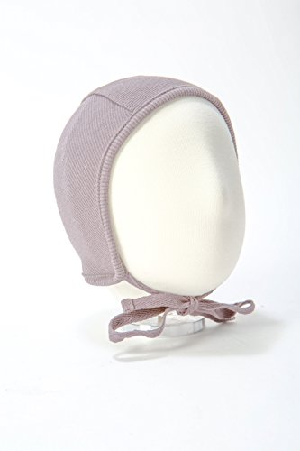 B&D Baby Bonnet: Soft Cotton Pilot Hat For Newborns, Infants, Toddlers – Ribbed Beanie With String Ties In 4 Colors – Fitted Baby Cap For Girls & Boys – Ideal For Christenings, Baby Showers, Birthdays from Unknown